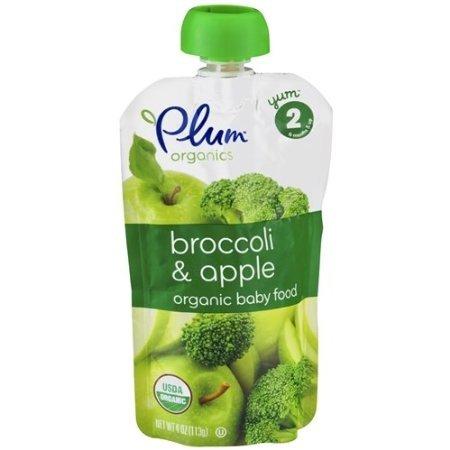 Plum Organics Baby Food , Broccoli & Apple 4 oz (113 g)