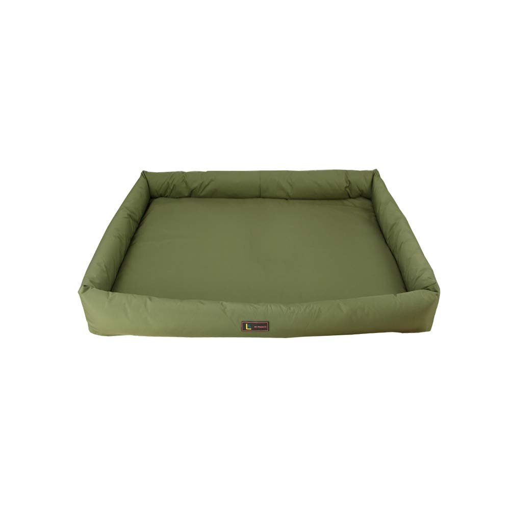 Green Large Green Large YQQ Pet Supplies Sleeping Pad Kennel Cat Nest Doghouse Summer Nylon (color   GREEN, Size   L)