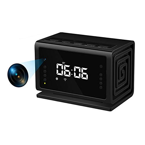 Hidden Camera Spy Camera Clock,Wireless Security Nanny Cam with 1080P Full HD, WiFi, Night Vision, Cell Phone App, No Sound Recording