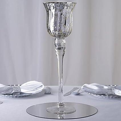 Amazon Efavormart 15 Tall Silver Mercury Glass Vase
