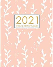 2021 Planner Weekly and Monthly: January to December: Cute Pink Cover