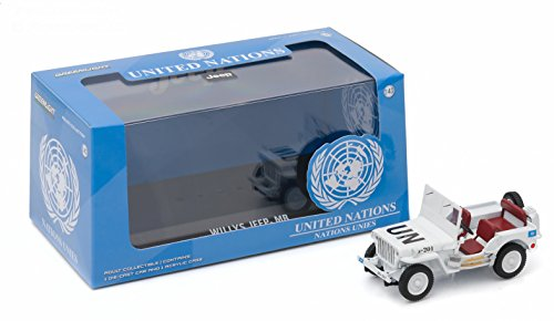 UNITED NATIONS JEEPS WILLY'S * Hobby Exclusive * 2016 Greenlight Collectibles Limited Edition 1:43 Scale Die-Cast Vehicle & Custom Display Case
