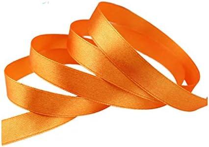 kawayi-桃 (25ヤード/ロール)片面サテンリボンウェビング装飾ギフトクリスマスリボン(6/10/12/15/40 / 50mm)-Orange-50mm