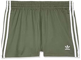 adidas Women's DH4421 Classic 3-Stripes Shorts, Base Green, 32