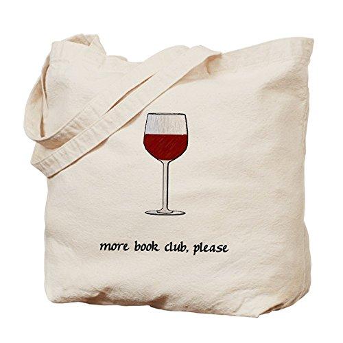 Cafepress–più Book Club Please–Borsa di tela naturale, tessuto in iuta