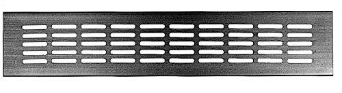 Upmann Chapa de ventilació n, aluminio, 400 x 80 mm de aluminio anodizado EV1, 1 pieza, 50520 400x 80mm de aluminio anodizado EV1 1pieza