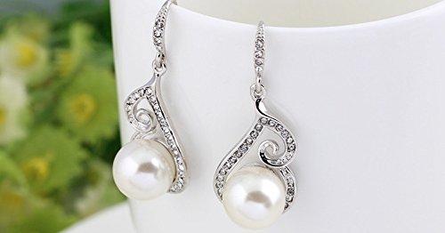 Bijoux pour femme avec collier de perles pour boucles d'oreilles strass neuf