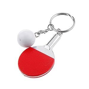 Kreative Tischtennis Ball Anhänger Schlüsselanhänger Schlüsselring Keyring -...