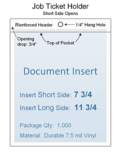 Amazon com: 7 3/4 x 11 3/4 Job Ticket Holder Vinyl Plastic