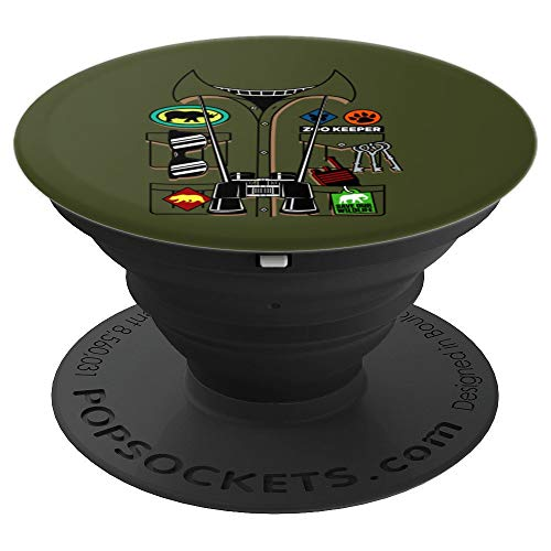 Zoo Keeper Halloween Costume DIY Jungle Safari Explorer Gift - PopSockets Grip and Stand for Phones and Tablets]()