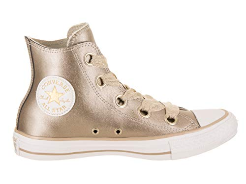 Converse Metallic Chuck All Casual Women Star Big Eyelets Gold Wht Gold Taylor Shoe Hi rrwqUTv
