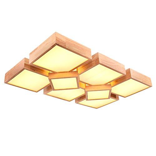 BLYC- Moderne minimalistische Schlafzimmer-Lampe kreative -Deckenleuchte Licht Nordic Massivholz led Deckenleuchte , (6+2) 112w 970*620 warm light