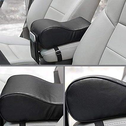 Breathable Car Armrest Box Mat,Memory Foam Car Armrest Console with Phone Holder Storage Bag Valleycomfy Car Armrest Cushion style3