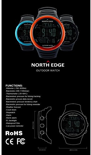Fishing Altimeter Barometer Thermometer Altitude Men Smart Digital Watches Sports Climbing Hiking Clock Montre Homme