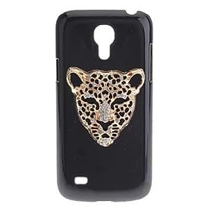 HP Iron Leopard Pattern Plastic Black Hard Back Case for Samsung Galaxy S4 Mini i9190 , Silver