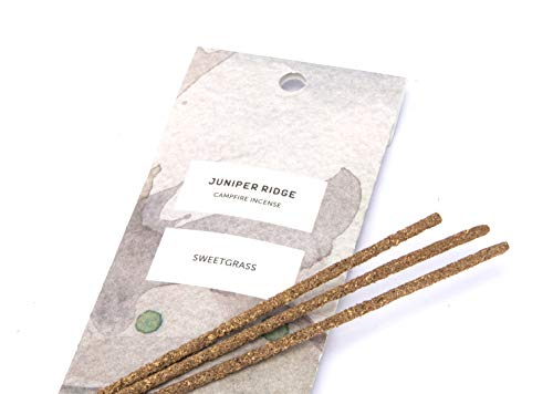 - Juniper Ridge | Aromatic Sweetgrass Incense | All Bamboo Sticks | Long Lasting | No Synthetic Fragrance | All Natural Ingredients | 20 Count