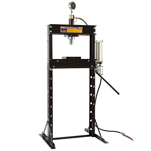 Hydraulic Press 20 Shop Ton (20 Ton Air-Operated Mechanic Repair Shop Press with Pressure Gauge)