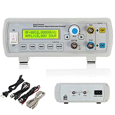MITUHAKI Measurement & Analysis Instruments Digital Multimeters & Oscilloscopes - FY2202S 2MHz Dual Channel DDS Function Signal Generator Sine Square Wave Sweep Counter