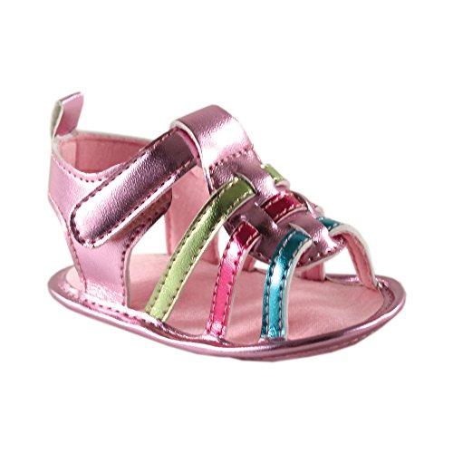 Luvable Friends Girls Metallic Sandal (Infant)