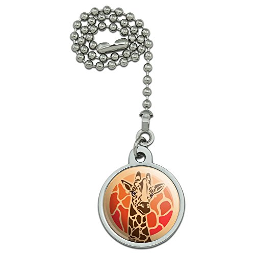 - GRAPHICS & MORE Giraffe Orange Circle Ceiling Fan and Light Pull Chain
