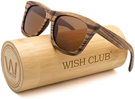 [Sponsored] WISH CLUB Wood Polarized Lenses Sunglasses for Women and Men Wayfarer Eyewear