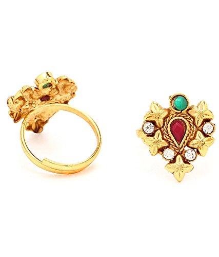 Sukkhi Magnificent Gold Plated Australian Diamond Stone Studded Toering for Women