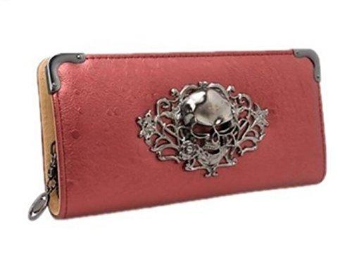 Oripo - Bolso mochila  de poliuretano para mujer Red