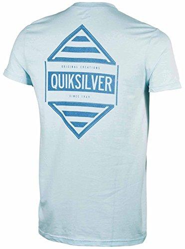 Quiksilver Men's Answer Slim Fit Graphic T-Shirt-Light Blue-XL