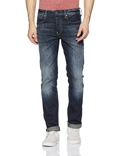 Revend dk Da Uomo Aged star Straight Pantalon Stretch 89 Blu G delm wzRFqx