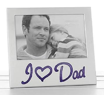Amazoncom I Love Dad Glitter Word Aluminium Photo Frame 6 X 4