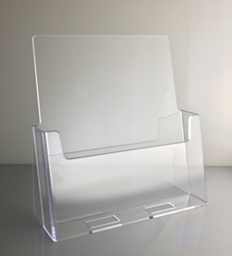 Dazzling Displays Clear Acrylic 8.5 x 11 Brochure Holder Countertop Display Acrylic Brochure Displays