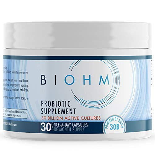 BIOHM Probiotics for Women & Men Digestive Enzyme Support, Non-GMO, Vegetarian Friendly, 30 Count