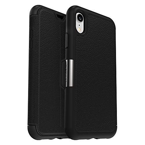 (OtterBox Strada Series Case for iPhone XR - Retail Packaging - Shadow (Black/Pewter))