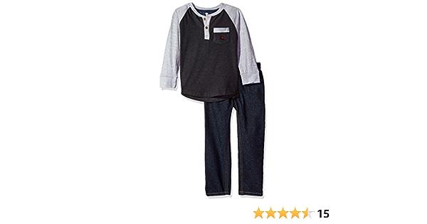 Boys American Hawk Blue /& Gray Short Sleeve Shirt W//Jogging Pants Size 4 5//6 /& 7