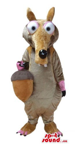 Ice age squirrel cartoon character SpotSound Mascot US costume fancy (Ice Age Fancy Dress Costumes)