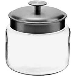 Anchor 77976 Montana Jar with Brushed Aluminum Metal Cover, 48 oz.