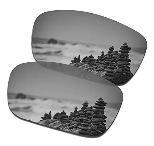 - SmartVLT Men's Silver Titanium Replacement Lenses for Oakley Drop Point Sunglass