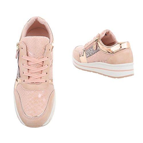 mujer Zapatillas para Zapatos Plano 258 Ital Low Design Altrosa Zapatillas A Iwwq4