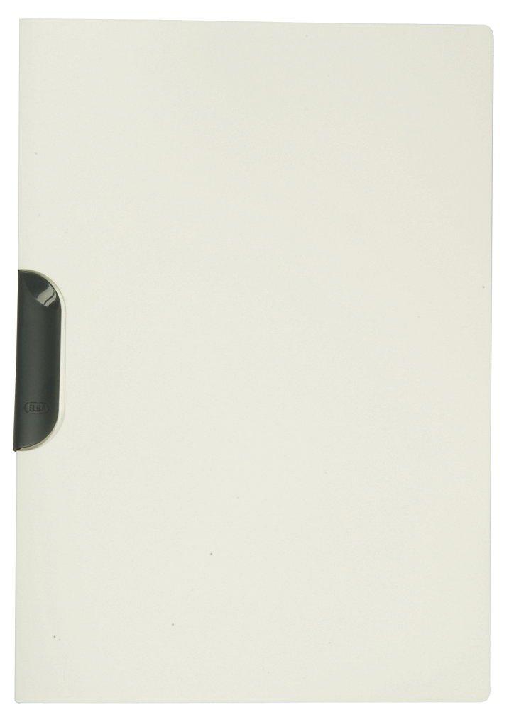 Elba 36492 - Cartella con clip, in PP, 0,5 mm per fogli A4 30 DIN circa, 10 pezzi, bianco Hamelin Brands 100421015
