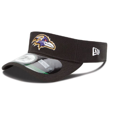 Baltimore Ravens Black New Era On Field Visor Hat Cap