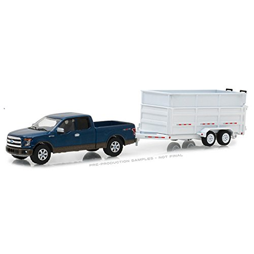 Greenlight 1:64 Hitch & Tow Series 12 - 2016 Ford F-150 and Dump Trailer from Greenlight