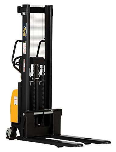 Vestil SE/HP-118 Combination Hand Pump and Electric Stacker, Steel, 42
