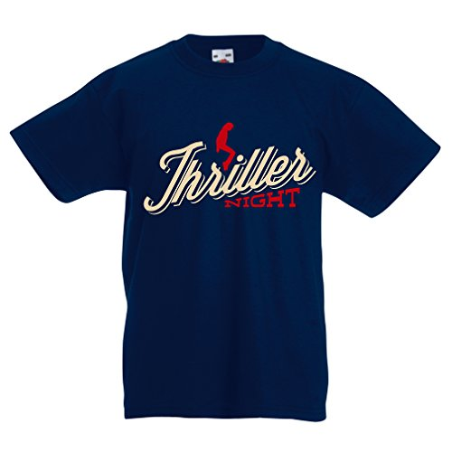 Funny T Shirts For Kids The Thriller Night  14 15 Years Dark Blue Multi Color