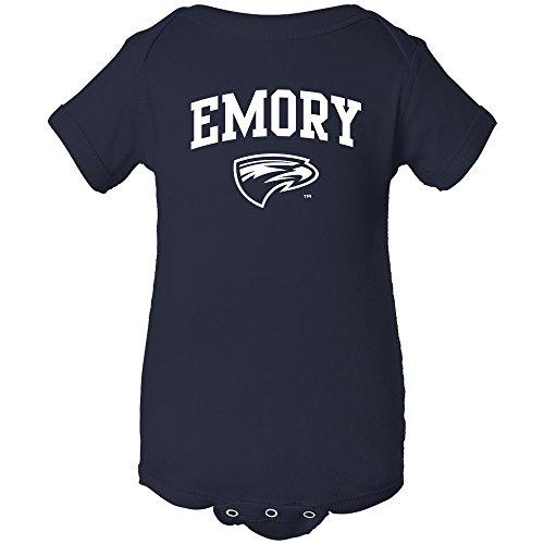 Logo Infant Bodysuit - YC03 - Emory Eagles Arch Logo Infant Creeper Bodysuit - 12 Month - Navy