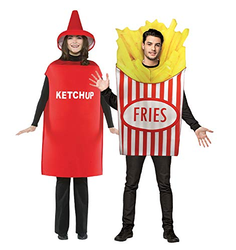 Adult French Fries and Ketchup Costume ()