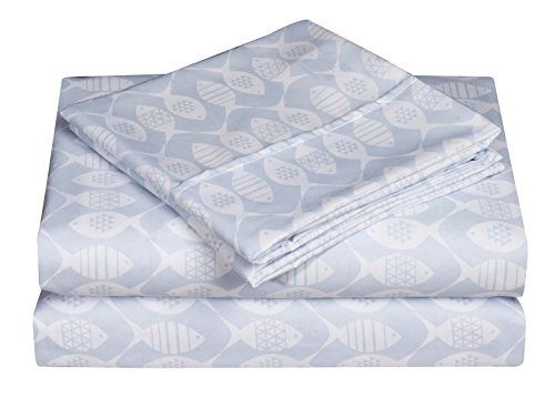 - Caribbean Joe Ultra-Soft Double Brushed 4-piece Microfiber Sheet Set. Beautiful Tropical Patterns, and Vibrant Solid Colors, Luxury, All-Season Bed Sheet Set - Fish, Full