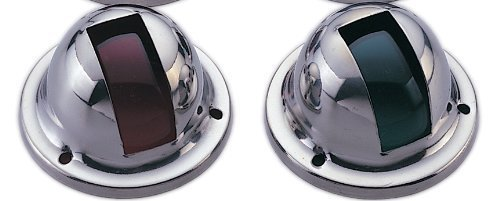 MARINE BOAT NAVIGATIONAL SIDE LIGHT PAIR SIDE MOUNT RED AND GREEN SPLASHPROOF by PactradeMarine