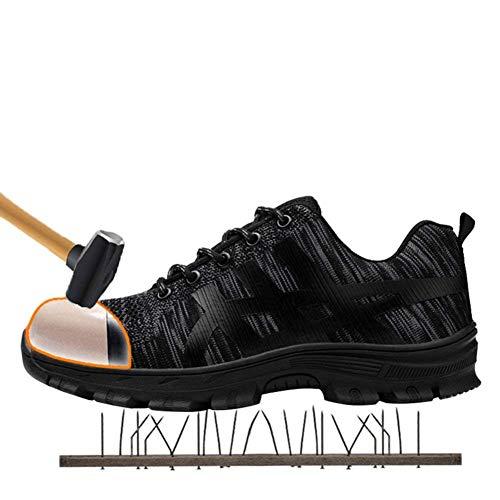 Donna 2 Punta Sportive Con Di Da Uomo Tqgold Acciaio Lavoro In Antinfortunistiche Scarpe Nero Sicurezza S3 qTZPIRAw