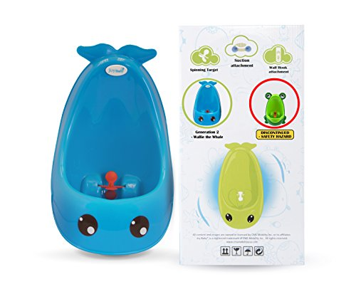 Cuddle Baby 2nd Generation Boy Urinal Potty Toilet Training with Free Potty Training Game (Blue Whale)