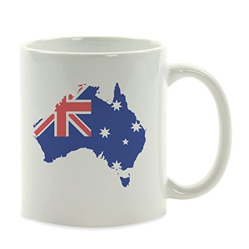 Andaz Press 11oz. Coffee Mug Gift, Country Flag Graphic, Australia, 1-Pack, World Cup Soccer Football Olympics Travel Party Decorations ()